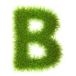 Grass style Cyrillic Alphabet Letters and Numbers