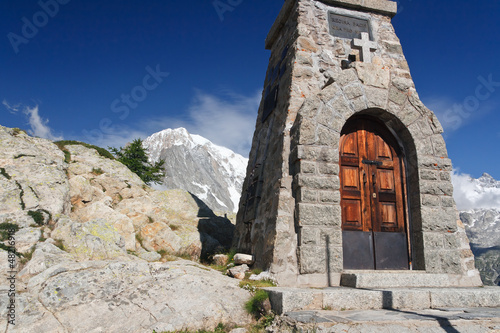 Valle d'Aosta - small chapel in Mont Chetif