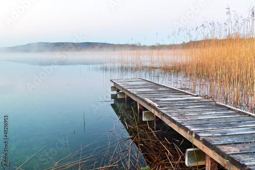 Tuinposter Noord Europa Irish lake before sunrise