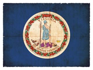 Grunge-Flagge Virginia (USA)