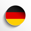 Germany Flag Paper Circle Shadow Button