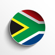 South Africa Flag Paper Circle Shadow Button
