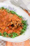 Hungarian fish paprikash - carp in paprika and cream sauce