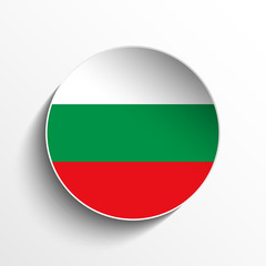 Bulgaria Flag Paper Circle Shadow Button