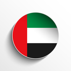 Emirates Flag Paper Circle Shadow Button