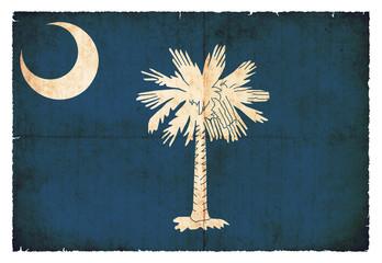 Grunge-Flagge South Carolina (USA)