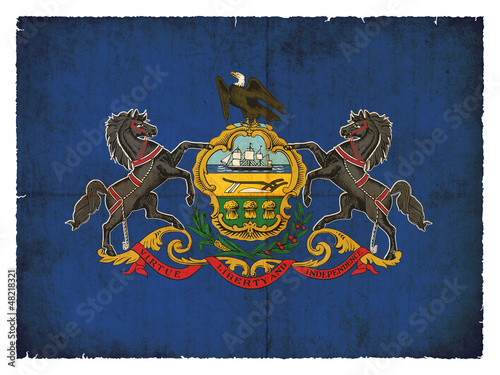 Grunge-Flagge Pennsylvania (USA)