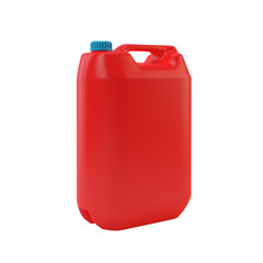 Red jerrycan isolated on white