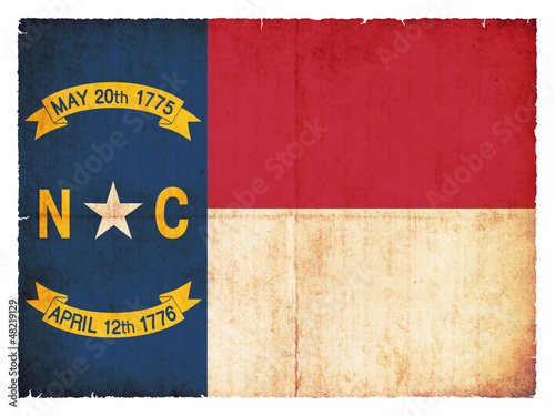 Grunge-Flagge North Carolina (USA)