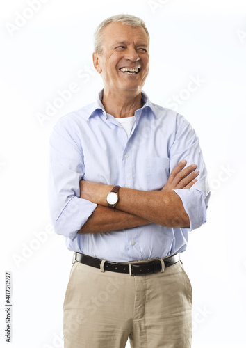 Portrait Of A Senior Businessman Smiling