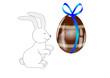 Reflet de lapin dans son oeuf chocolat - Pâques