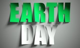 Earth day cut from paper on background poster