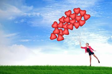 Happy Valentine balloons