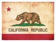 Grunge-Flagge Kalifornien (USA)