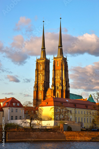 Gothic Cathedral in Wroclaw, Poland © satori