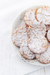 Crunchy cookies dusted with icing sugar