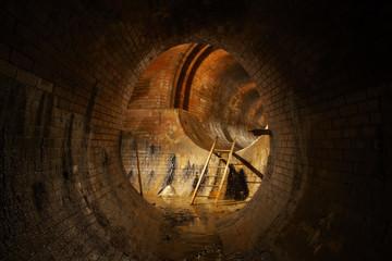 Underground old sewage treatment plant