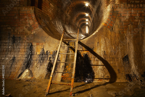 Underground old sewage treatment plant