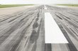 Skid marks on at the runway