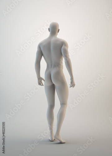 Muscular male sculpture