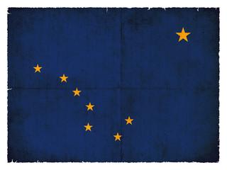 Grunge-Flagge Alaska (USA)
