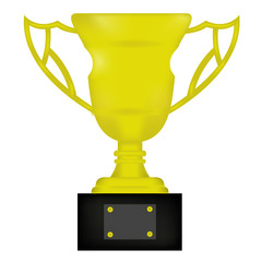 golden trophy cup isolated on white. eps10