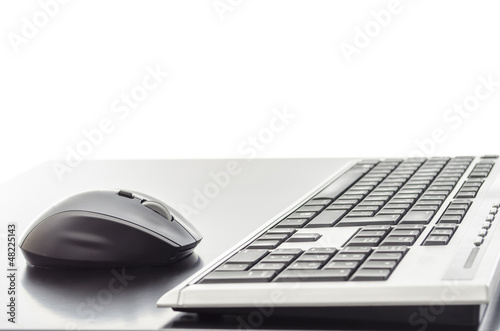 Mouse and a keyboard