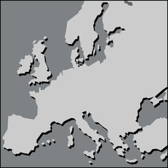 map of Europe. vector