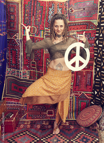 Peace Sign Woman