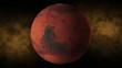 Planet mars space, stars