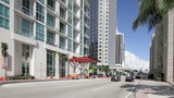 Biscayne boulevard at Downtown Miami poster