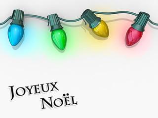 Christmas Lights Joyeux Noel
