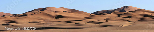 Sand Dunes Panorma in the Sahara Desert