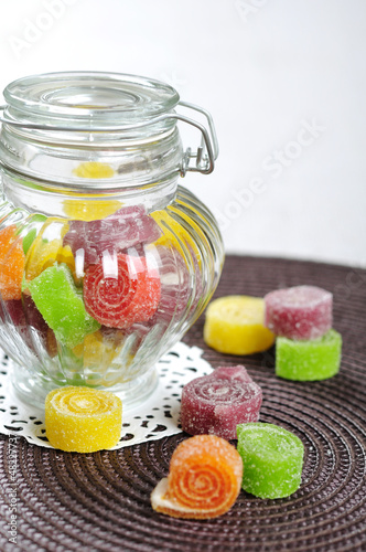 sweet jelly candies