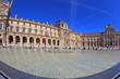 Leinwanddruck Bild - The Louvre - a huge bowl magnificent fountain