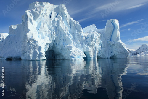 Fototapeten,horizontale,blau,eisberg,eis
