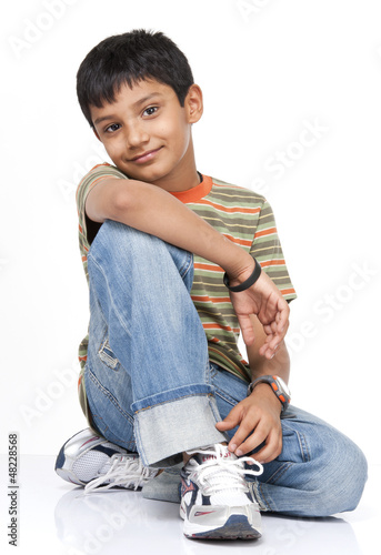 Indian boy in indoors