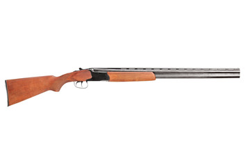 A studio shot of a hunting shotgun