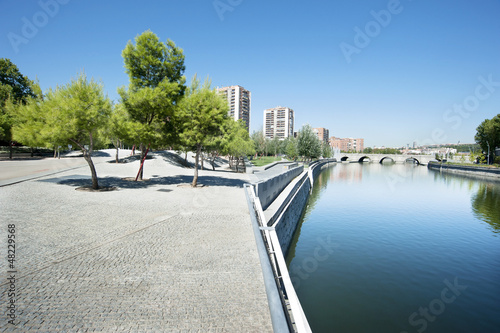 Recreation area in Madrid, Spain