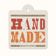 Vintage letterpress hanging label (hand made)