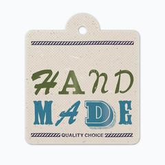 Vintage letterpress hanging label (hand made)