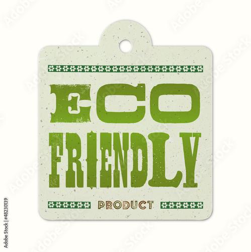 Vintage letterpress hanging label (eco friendly)