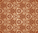 Vintage beige abstract ornate flowers seamless pattern