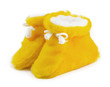 yellow baby shoes