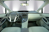 interior of the modern hybrid car