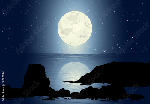 Moonlight With Full Moon