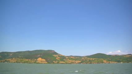 Peaceful look at the Danube bay
