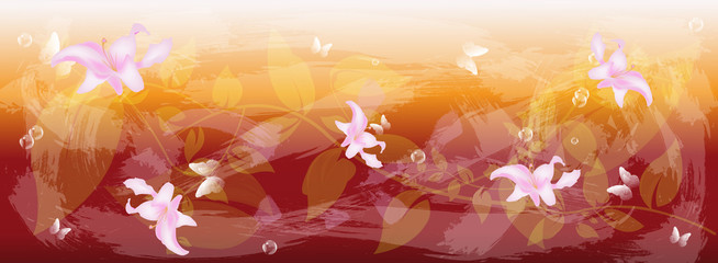 Abstract floral colorful  background.Vector