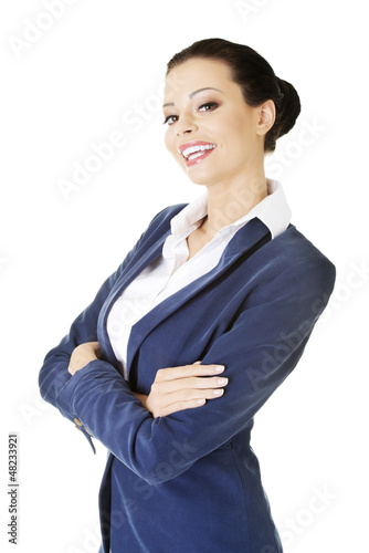 Portrait of young success businesswoman
