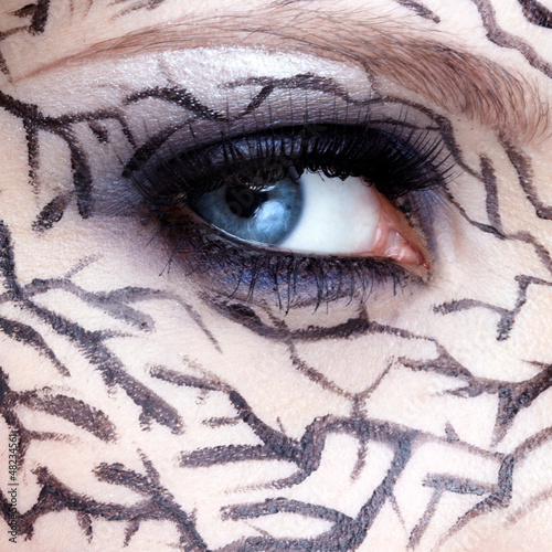 closeup of eyezone bodyart